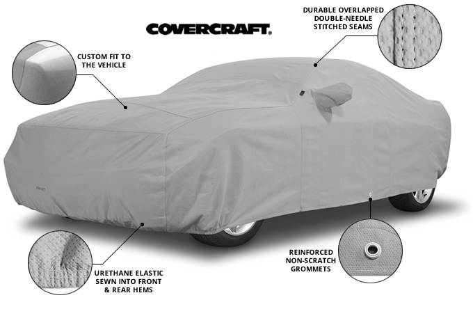 Available in Gray Indoor//Outdoor Block-it 200 Covercraft Custom Car Covers
